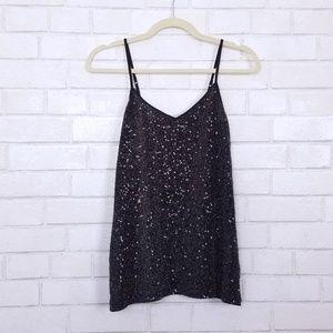 Express | Black Sequined Formal Dress Tank